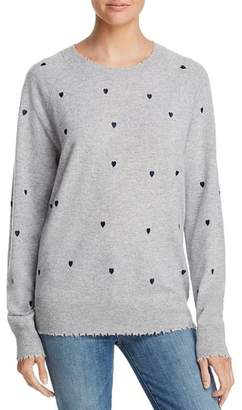 Aqua Heart Embroidered Cashmere Sweater - 100% Exclusive