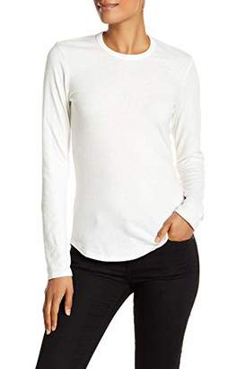 James Perse Long Sleeve Brushed Jersey Crew Neck Tee Shirt for Women in