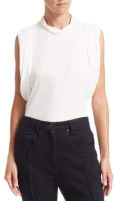 Alexander Wang Women's Draped Racerback Jersey Tank Top - White - Size Large