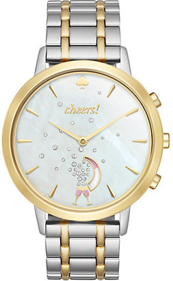 Two tone gold smart watch $275 thestylecure.com