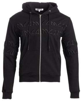 McQ Men's Cotton Clean Zip Logo Hoodie - Darkest Black - Size XXL