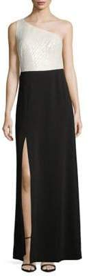 Calvin Klein Colourblock Sequin Top Gown