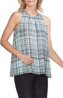 Vince Camuto Plaid Shades Sleeveless Blouse