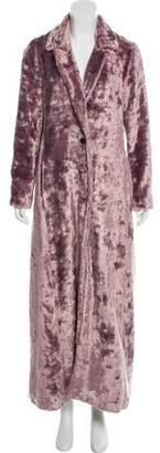 Rosie Assoulin Long Faux Fur Coat