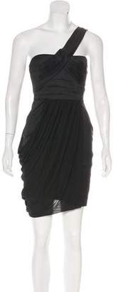 BCBGMAXAZRIA Pleated Mini Dress
