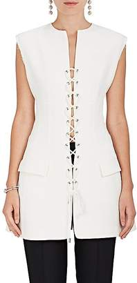 Derek Lam Women's Lace-Up Cady Vest