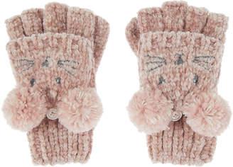 Accessorize Ceri Chenille Mouse Mitten Cap Gloves