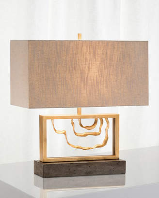 John-Richard Collection Golden Stack Arch Table Lamp