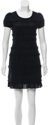 Marc by Marc Jacobs Lace Short Sleeve Mini Dress