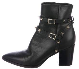 Valentino Rockstud Pointed-Toe Boots