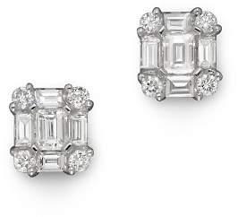 Bloomingdale's Diamond Emerald-Cut Earrings in 14K White Gold, .85 ct.tw. - 100% Exclusive