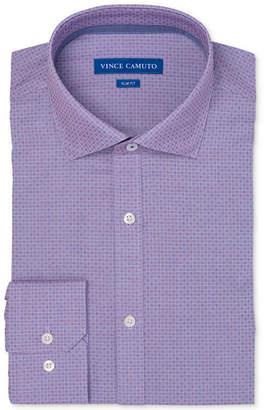 Vince Camuto Men Slim-Fit Comfort Stretch Mini Check Dress Shirt