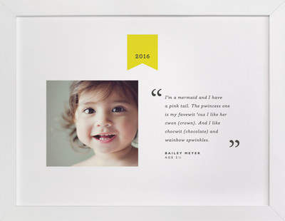 Quote of the Year Children's Custom Photo Art Print