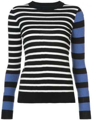 Derek Lam 10 Crosby Striped Mock Neck Pullover
