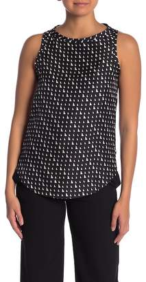 Theory Racerback Silk Shell Top
