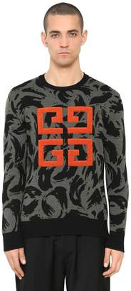 Givenchy 4g Logo Patch Jacquard Wool Sweater