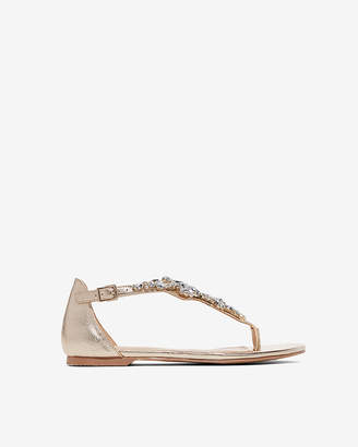 Express Jewel T-Strap Sandals