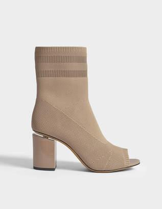 Alexander Wang Cat Sock Booties in Nude Synthetic Fabric