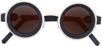 Kuboraum round frame sunglasses