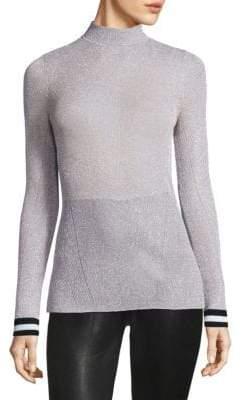 Rag & Bone Priya Lurex Long-Sleeve Top