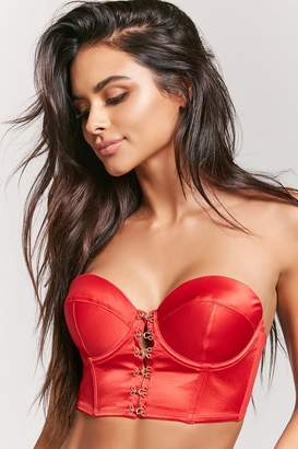 Forever 21 Satin Hook-and-Eye Front Lingerie Corset