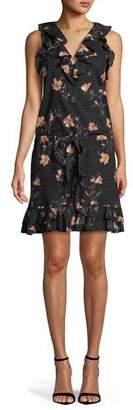 Paige Farfalla V-Neck Sleeveless Floral-Print Cotton Dress