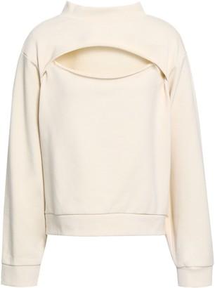 Alexander Wang Cutout French Cotton-terry Sweatshirt