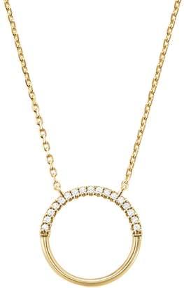 Michael Kors Custom Kors Sterling Silver Crystal Starter Pendant Necklace
