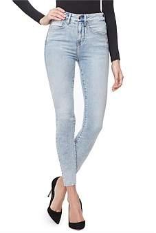 Good American Good Waist' Raw Edge Super High Rise Skinny Jean