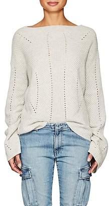 Nili Lotan Women's Leyton Rib-Knit Cashmere Sweater - Light Grey Melange