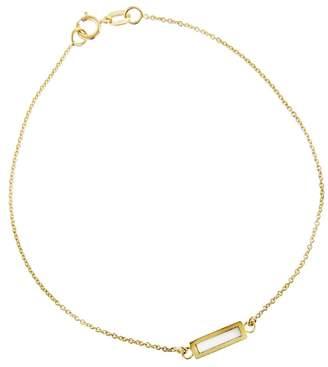 Jennifer Meyer Mother of Pearl Inlay Bar Bracelet