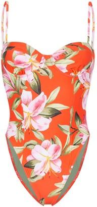 Mara Hoffman Desiree floral print swimsuit