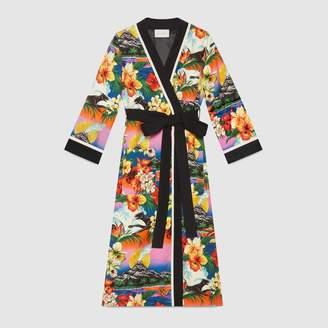 Gucci Hawaiian print silk kimono