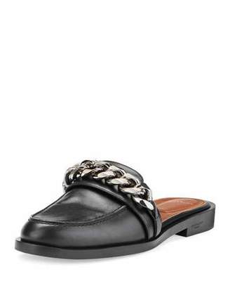 Givenchy Chain Leather Loafer Mule, Black $695 thestylecure.com