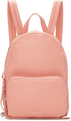 Alexander McQueen Pink Small Backpack $1,295 thestylecure.com