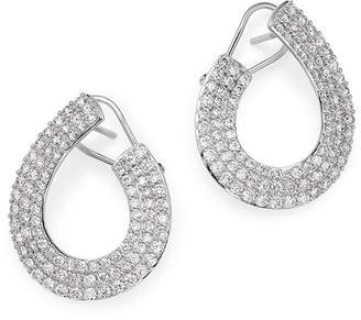 Bloomingdale's Diamond Front-to-Back Earrings in 14K White Gold, 3.0 ct. t.w. - 100% Exclusive