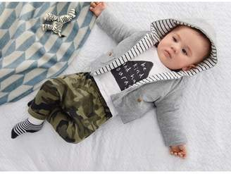 Next Boys Ecru Slogan T-Shirt And Camouflage Joggers Set (0mths-2yrs) - Green