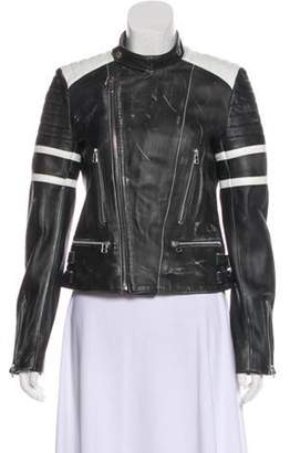 Each X Other Structured Leather Jacket Black Structured Leather Jacket