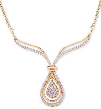Wrapped in Love Diamond Teardrop Pendant Necklace (1 ct. t.w.) in 14k Gold