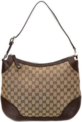 Gucci Brown Gg Canvas & Leather Charlotte Hobo Bag