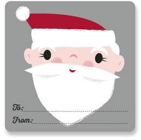 Santa Gift Tag Custom Stickers