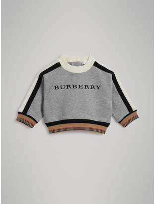 Burberry Embroidered Logo Cotton Sweatshirt
