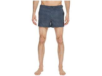 Original Penguin Crosshatch Print Swim Trunk Men's Swimwear