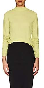 Rick Owens Women's Wool Mock Turtleneck Sweater - Lime