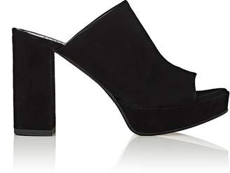 Barneys New York Women's Suede Platform Mules $325 thestylecure.com
