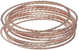 LC Lauren Conrad Textured Bangle Bracelet Set $18 thestylecure.com