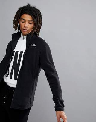 The North Face 100 Glacier Full Zip Fleece In Black