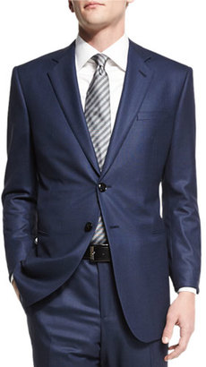 Giorgio Armani Taylor Birdseye Two-Piece Wool Suit, Navy $3,195 thestylecure.com