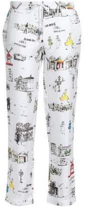 Mimi Holliday Printed Silk-Twill Pajama Pants