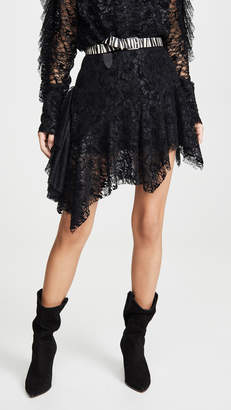 ANAÏS JOURDEN Black Velvet Lace Mini Skirt